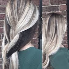 Here's Every Last Bit of Balayage Blonde Hair Color Inspiration You Need. balayage is a freehand painting technique, usually focusing on the top layer of hair, resulting in a more natural and dimensional approach to highlighting. Blonde Hair With Brown Underneath, Hair Color Underneath, Dark Hair With Highlights, Blonde Highlights Underneath, Blonde Ombre Hair, Brown Ombre Hair, Icy Blonde, Blonde On Dark Hair, Brunette Ombre
