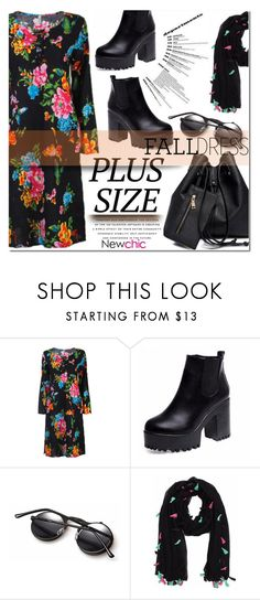 """""""PLUS SIZE (LOVENEWCHIC#5)"""" by nanawidia ❤ liked on Polyvore featuring plussize, polyvoreeditorial and newchic"""