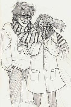 Harry and Ginny  Art by burdge bug