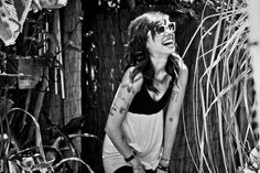 Tattoos, shades, little dress... & on a side note, Christina Perri is just adorable.