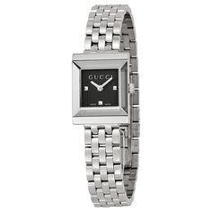 4a7aed184fe Gucci G-Frame Black Guilloche Dial Ladies Watch YA128403