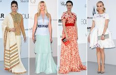 amfAR Cannes 2012 - Kirsten Dunst in Louis Vuitton, Bérénice Béjo in Giambattista Valli, Diane Kruger in Chanel with glittered pumps by Christian Louboutin