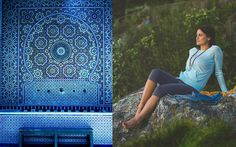 home becomes her: Lululemon athletic wear and zen spaces - Blue Moroccon Tiles Moroccon Tiles, Zen Space, Group Fitness, Boyfriend Tee, Sport Wear, Athletic Wear, Lululemon, Spaces, How To Wear