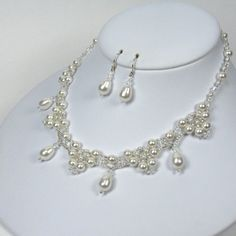 Bridal Jewelry Pearl Necklace Vintage Inspired by TwoBeWedJewelry