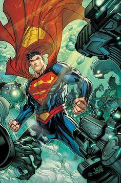 Superman by Jonboy Meyers Arte Do Superman, Mundo Superman, Superman Artwork, Supergirl Superman, Batman And Superman, Superman Stuff, Superman Family, Dc Heroes, Comic Book Heroes
