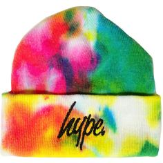 HYPE. HYPE.DYE BEANIE ($22) ❤ liked on Polyvore featuring accessories, hats, beanie cap, beanie cap hat and beanie hats