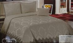 Elif Yatak Örtüsü Çift Kişilik Fransız Güpürlü Vizon Bed, Model, Furniture, Home Decor, Decoration Home, Stream Bed, Room Decor, Scale Model