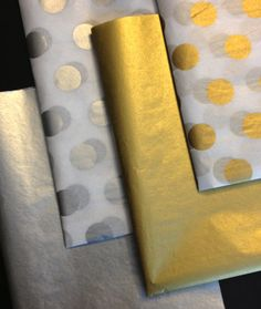 Metallic Tissue Paper ... 10 Sheets // gold // silver by PomLove, $5.50