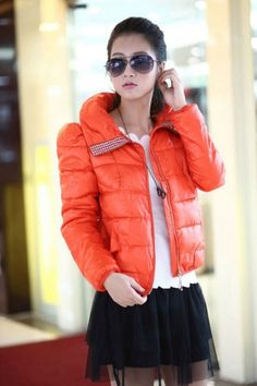 Fabulous Rhinestone Decorated Down Cotton Short Coat for Women on BuyTrends.com, only price $33.90