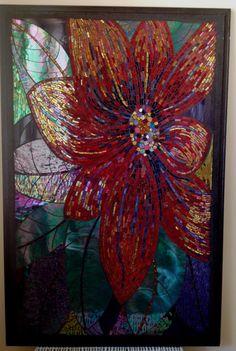 colourful mosaic flower