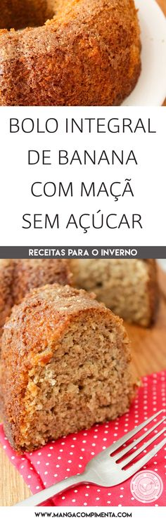 Portuguese Desserts, Vegan Kitchen, Banana Bread, Healthy Life, Easy Meals, Food And Drink, Favorite Recipes, Healthy Recipes, Homemade
