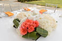 Outdoor wedding reception at Hyatt Regency LAX