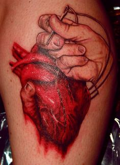 What does broken heart tattoo mean? We have broken heart tattoo ideas, designs, symbolism and we explain the meaning behind the tattoo. Human Heart Tattoo, Broken Heart Tattoo, Heart Tattoos Meaning, Heart Tattoo Designs, Anatomical Tattoos, Anatomical Heart, Unique Tattoos, Hand Tattoos, Boston Tattoo