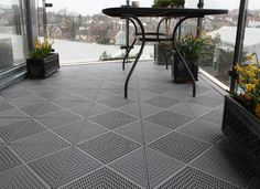 Piazza Floor Tiles for Balconies and Roof Terraces. Piazza Floor Tiles for Balconies and Roof Terraces. Free draining, easy install, lightweight and UV Balcony Tiles, Terrace Tiles, Terrace Floor, Balcony Flooring, Ikea Deck Tiles, Outdoor Flooring Options, Flooring Ideas, Patio Ikea, Small Balcony Design