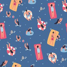 Beach Illustration, Fashion Illustration Sketches, Pattern Illustration, Digital Illustration, Surface Pattern Design, Community Art, Pattern Wallpaper, Art Drawings, Doodles