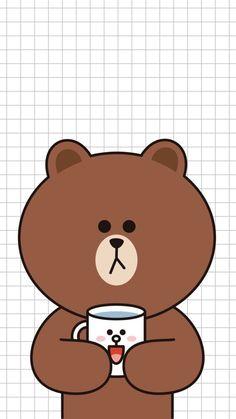 Cute quá nè >< Lines Wallpaper, Brown Wallpaper, Bear Wallpaper, Iphone Background Wallpaper, Kawaii Wallpaper, Galaxy Wallpaper, Friends Wallpaper, Couple Wallpaper, Wallpaper Fofos