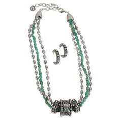 Montana Silversmiths 3-Rings Turquoise Necklace found on Polyvore