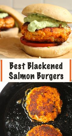 Burger Recipes, Fish Recipes, Seafood Recipes, New Recipes, Recipies, Favorite Recipes, Healthy Salmon Burgers, Buffalo Chicken Burgers, Homemade Buns