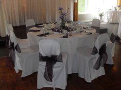 Purple seating  at trillium trails banquet & conference centre