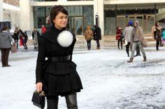 Miroslava Duma carrying M2Malletier handbag