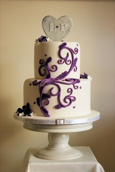 purple silver and white wedding cake purple amp silver theme purple white silver 3 tier wedding 18904