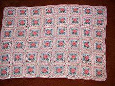 Ravelry: Irish Rose Square pattern by Priscilla Hewitt.. Free pattern!