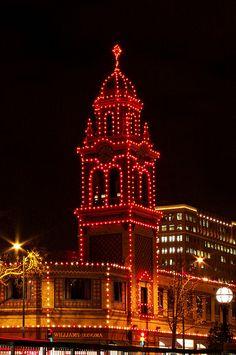 Clock Tower during the Holidays Kansas City, MO