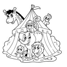 Circustent met dieren