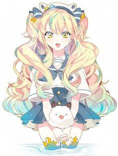 Tags: Anime, Piyo (Pixiv8426918), Vocaloid, SeeU, :3, Pleated, Sailor Collar