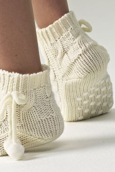 Knitted socks by norlyn. Nice to snuggle in these socks during a winter snow storm!