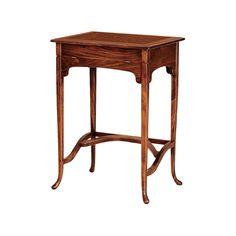 #Mesa de #madera , rectángular, con escritorio oculto.