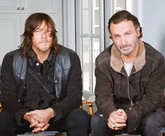 """ Norman Reedus and Andrew Lincoln  TV Guide Magazine Interview January 26, 2016 credit : TV Guide Magazine  #NormanReedus #norman #reedus…"""
