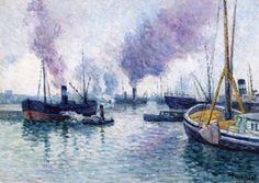 The Athenaeum - The Port of Rotterdam (Maximilien Luce - )