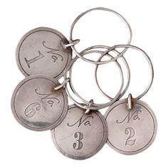 10 Piece Numbers Wine Charm Set