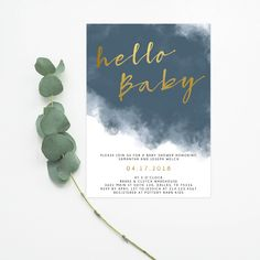 Hello Baby Invitation, Fall Baby Shower Invitation, Couples Baby Shower Invitation Excited to share this item from my shop: Hello Baby Invitation, Gender Neutral Baby Shower In