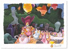 Disney Art on Main Street - Tea With Alice | Disney Art, $495.00 (http://www.disneyartonmain.com/tea-with-alice-disney-art/)