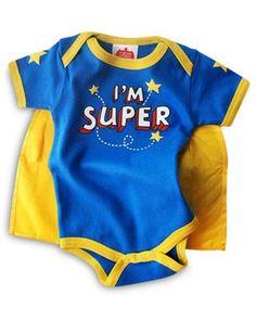 I'M SUPER onesie with cape
