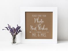 Wedding Photobooth Guestbook Sign, Photo Guestbook Sign, Polaroid Guestbook Sign, Rustic Kraft or Chalkboard Style [S21]
