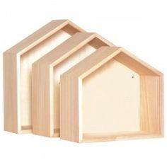 Etagères maisons bois