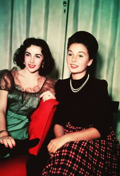 Elizabeth Taylor and Jean Simmons, 1950s