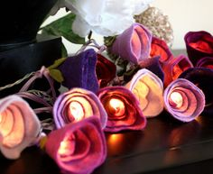 Hey, I found this really awesome Etsy listing at https://www.etsy.com/listing/210828390/purple-rose-fairy-lights-highland