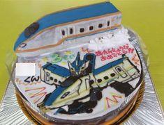 ドクターイエローと電車イラストケーキ | 電車ケーキ【2019 ...