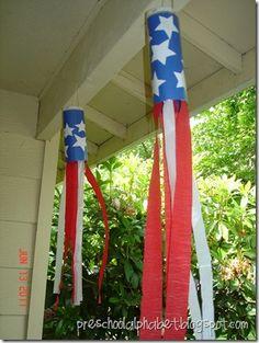 4th of July wind socks