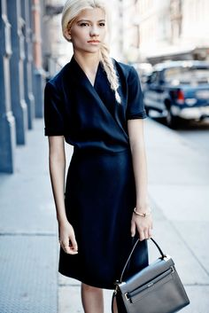 Outfit of the Week: A Work-Friendly Black Dress -- The Cut
