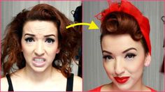 Here is a classic Pin-up glamour hair tutorial for you! Perfect for all pin-up girls. Pin Up Vintage, Look Vintage, Vintage Scarf, Vintage Updo, Vintage Makeup, Unique Vintage, Retro Hairstyles, Scarf Hairstyles, Classy Hairstyles