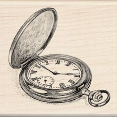Inkadinkado - Sketches Collection - Wood Mounted Stamps - Pocket Watch at Scrapbook.com $9.99