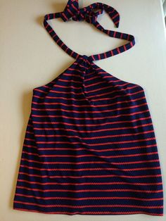 US $20.00 Pre-owned in Clothing, Shoes & Accessories, Women's Clothing, Tops & Blouses #anntaylor #halter #nautical