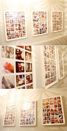 Leuk jaarproject: elke dag een (instagram-)foto maken en daar een collage van maken. Leuke lijsten zijn bij de Ikea te krijgen. Laat je collage afdrukken op een poster. Dit elk jaar doen, geeft een leuk overzicht.