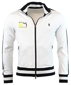 Polo Ralph Lauren Mens Full Zip Performance Cotton Track Jacket, White