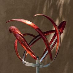 ROSE - RED - Mark White, wind sculpture